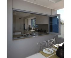 Bi-fold servery window. Perfect for outdoor entertaining. #bbq