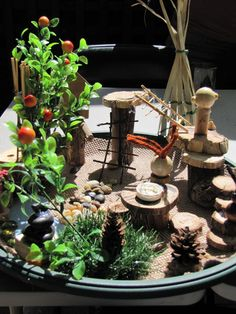"""miniature playscape oooh!I know a little someone who would love this for her """"pet"""" snail!"""