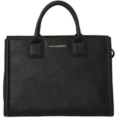 Karl Lagerfeld Women K Klassic Saffiano Leather Tote (410 CAD) ❤ liked on Polyvore featuring bags, handbags, tote bags, black, tote hand bags, handbags totes, tote purses, karl lagerfeld purse and tote handbags