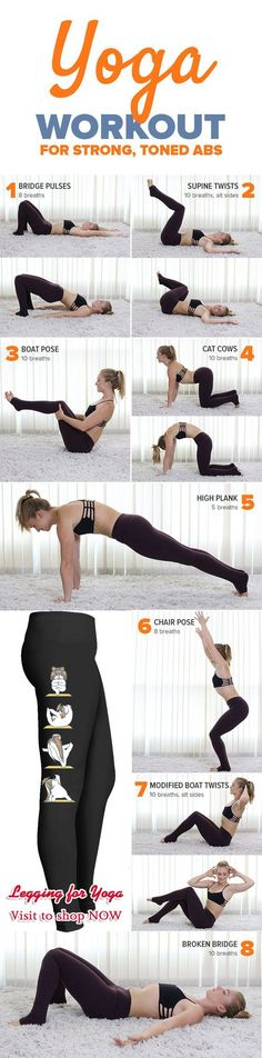 Tone and strengthen your abs with this quick, 20-minute yoga routine. #yoga #yogainspiration #workout #workoutmotivation