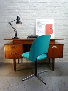 Elegant Mid Century Floating Shelf Vintage Teak Writing Desk by G Plan. £285.00, via Etsy.