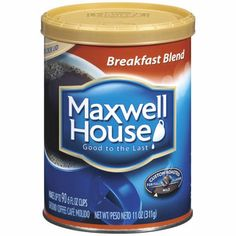 Maxwell House Original Roast Medium Ground Coffee Cans Pack of 12 >>> To view further for this item, visit the image link. (This is an affiliate link and I receive a commission for the sales) Maxwell House Coffee, International Coffee, Fresh Roasted Coffee, Real Coffee, Coffee Time, Coffee Cups, Blended Coffee, Coffee Roasting, The Ordinary