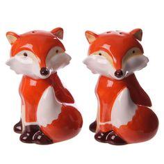Fun+Cute+Fox+Ceramic+Salt+and+Pepper+Set