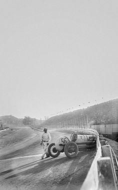 Circa 1910 dirt track crash
