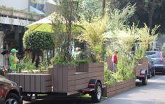 Parklets: eco mobile installations
