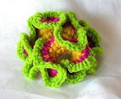 Free Non-Euclidean Geometry Meets Crochet flower pattern.