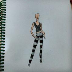 Boceto diseño moda Emo