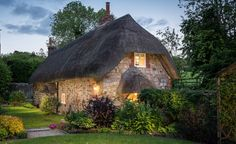 This quintessential country cottage nestles in the village of West Overton in Wiltshire.