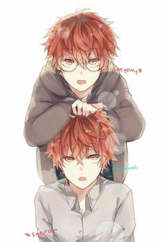 Saeyoung Choi and Saeran Choi from Mystic Messenger Tv Anime, Anime Plus, Mystic Messenger Game, Mystic Messenger Fanart, Mystic Messenger Unknown, Anime Siblings, Anime Child, Luciel Choi, Saeran Choi