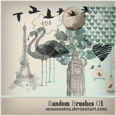 Free Photoshop Brushes | Random Brushes 01 | Author SeasonsTea