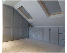 Attic Bedroom Storage, Attic Bedroom Designs, Loft Storage, Attic Design, Attic Bathroom, Attic Rooms, Bedroom Loft, Storage Ideas, Attic Playroom