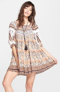 Free People 'Snap Out of It' Print Dress available at #Nordstrom