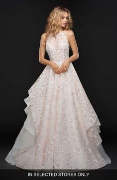 9f14395f1d5 Reagan Floral Embroidered Layered Ballgown