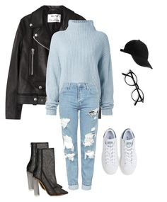 """""""Casual Christmas party outfit."""" by ogeajibe on Polyvore featuring Acne Studios, Le Kasha, Topshop, adidas Originals and adidas"""