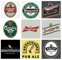 Game of Thrones Beer List haha