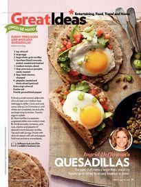 Ingrid Hoffman's Sunny Fried Eggs & Avocado Quesadillas + Lorena Garcia's La Mula Tequila Cocktail | People April 29, 2013