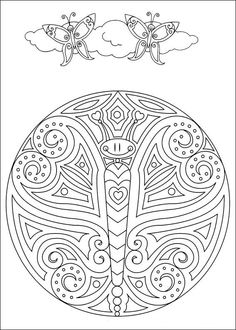 coloring pages for adults-butterfly