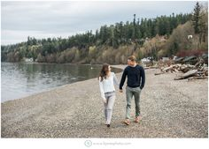 Walking on the beach engagement. Pacific Northwest. Wanderlust Engagement. PNW is best. Kayak Point Park Engagement.   B. Jones Photography. Snohomish Wedding Photographer. Seattle Wedding Photographer.