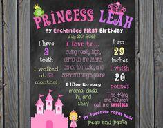 Custom Printable Princess Theme Birthday by ChalkingItUpBoards, $30.00