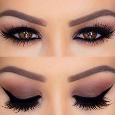 Pretty And Natural MakeUp Ideas For Brown Eyes 44