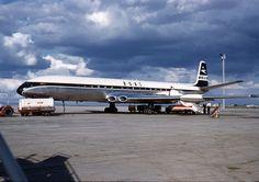 B.O.A.C  DH Comet  4 at Essenden airport. Melbourne Australia
