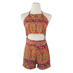 Cheap party jumpsuit, Buy Quality playsuit bodycon directly from China bodycon jumpsuit Suppliers: Women Ladies Backless Clubwear Playsuit Bodycon Party Jumpsuit&Romper Trousers US STOCK Bodycon Jumpsuit, Two Piece Rompers, Chiffon Pants, Boho Romper, Short Playsuit, Short Models, Sunflower Print, Chiffon Material