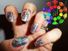 Holographic Nail Foil Mani