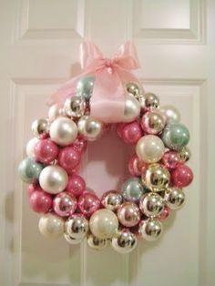 DIY:: Love ! Shiny Ornament Wreath Tutorial