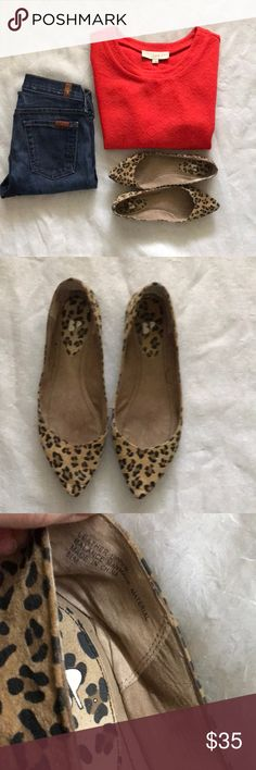 BP leopard flats SALE Like new bought At Nordstrom's. All items for sale in my closet BP Shoes Flats & Loafers