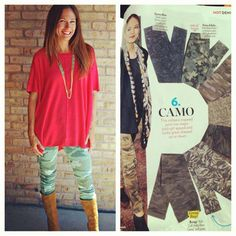 People Style Watch declared camo a must have denim trend this fall! Good thing camo goes back to so much and acts as a neutral, don't believe us? Check out our latest blog post on www.vanessavboutique.com. and after you read it, come try on our CJ Jeans camo printed leggings! $145