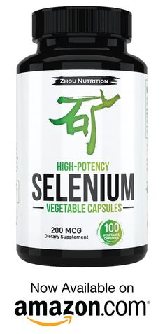 Selenium is an essential trace mineral for men & women that supports thyroid, prostate and heart health. Zhou Nutrition's Selenium supplement is yeast-free and high-potency for super absorption. Comes in 100 vegetable capsules that only need to be taken once per day. You can find more information about the natural benefits of selenium by clicking this pin.
