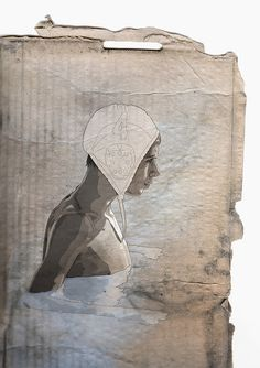 Cardboard water polo player by PATRICK BOEHNER, via Flickr