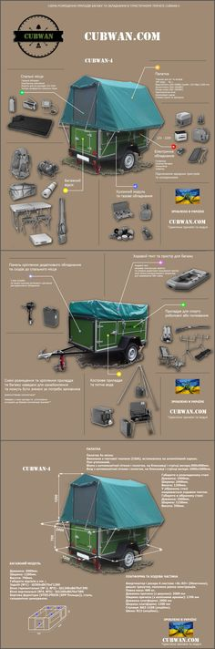 Camping Trailer CUBWAN #trailer-tent #travel-trailer #trailer-camping…