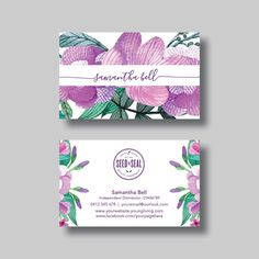 Young Living Essential Oils Business Card (Floral 1.0) - Digital Design by BellGraphicDesigns on Etsy https://www.etsy.com/au/listing/385017126/young-living-essential-oils-business
