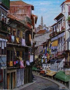 Pintura de Júlio Costa - Porto / Portugal