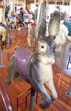 Richland Carrousel Park Carrousel,  Carousel Works Rabbit Jumper