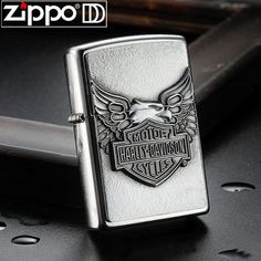 Zippo Harley Davidson Street Chrome with Emblem Lighter