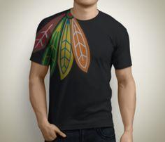 Chicago Blackhawks T-Shirt: Blackhawks Feathers