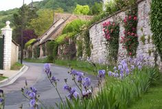 Street scene on our walk to Monet gardens in Giverny -  France. From Frame to Frame - Bob & Jean
