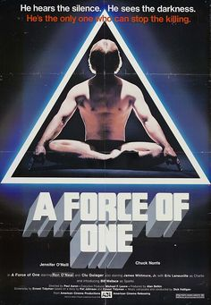 A Force Of One Us Poster Art Chuck Norris 1979 ? Action Movie Poster, Movie Poster Art, Film Posters, Cinema Posters, Movie List, Movie Tv, Chuck Norris Movies, James Whitmore, Ralph Macchio