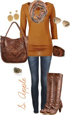 """Autmun Mustard"" by sapple324 on Polyvore"