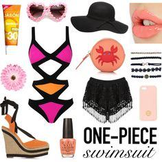 cut out swimsuit love by hannderella on Polyvore featuring Agent Provocateur, Gucci, Kate Spade, Wet Seal, Dorothy Perkins, Tory Burch, NLY Accessories, Charlotte Tilbury, Jason and OPI