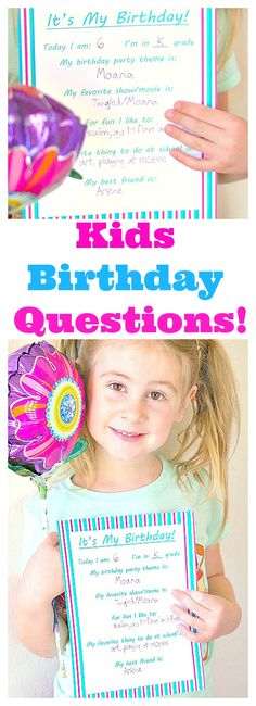 Kids Birthday Questi