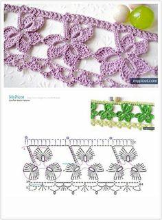 How to make an invisible decrease in single crochet Crochet Collar Pattern, Crochet Earrings Pattern, Crochet Edging Patterns, Crochet Borders, Crochet Diagram, Crochet Motif, Knitting Patterns, Love Crochet, Irish Crochet