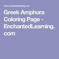 Greek Amphora Coloring Page - EnchantedLearning.com