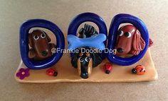 Frankie Doodle Dog 1 821 Dad Fathers Day Tiny Clay Dachshund Sculpture | eBay ($28.00 bid)