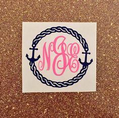 A personal favorite from my Etsy shop https://www.etsy.com/listing/269079317/monogrammed-nautical-anchor-ring-decal
