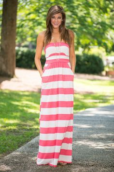 Timeless Trends Maxi Dress, Coral