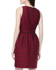 Sleeveless Lace Jacquard Dress