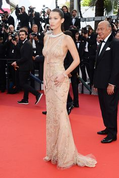 Bella Hadid in Roberto Cavalli at Cannes Film Festival